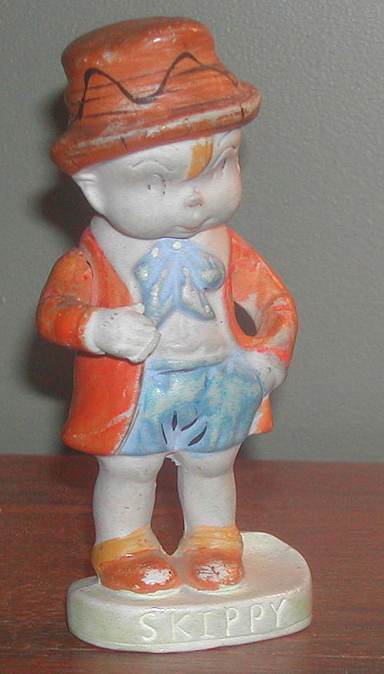 Vintage 1930s Skippy Character Bisque Toothbrush Holder