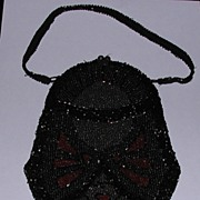 c. 1920s Deco Beaded Flapper Purse Handbag