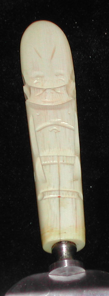 Vintage Alaska Billiken Hand Carved Ivory Pie Server