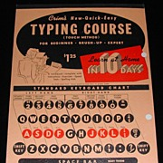 Mid Century Crim's Typing Course Book  Cover Graphics