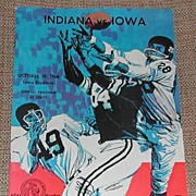 Vintage Indiana vs Iowa Program, Oct 29, 1966