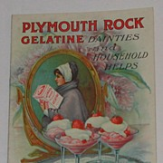 c. 1915 Plymouth Rock Gelatine Dainties Advertising Cookbook