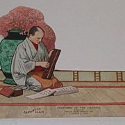 c.1900 Dr. Miles Costumes of World Advertising Japanese Man Paper Doll
