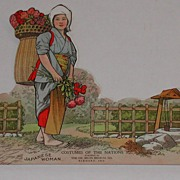 c. 1900 Dr. Miles Advertising Paper Doll Japanese Woman