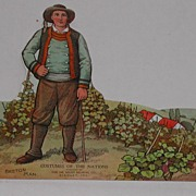 c.1900 Dr. Miles Advertising Paper Doll Breton Man