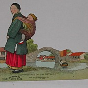 c.1900 Advertising Paper Doll Dr. Miles Costumes of World Chinese Woman