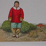 c.1900 Advertising Paper Doll Dr. Miles Costumes of the World Chinese Man