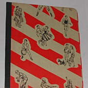 Vintage 1950s School Binder Book Neato Graphics Add your own Pix on the Inside