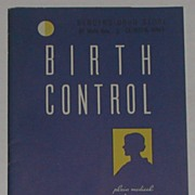 Vintage 1934 Booklet Birth Control, Lanteen Medical Company, Quackery