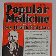 Vintage 1935 Popular Medicine Booklet Quackery Can the Frozen Live Etc