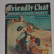 Vintage 1940 Friendly Chat Advertising Booklet Periodical Farm