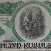 1917 Empire Tire Rubber  Stock Certificate Signed  Rubber Tree
