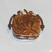 Antique c.1900 Victorian Rolled Gold Gilt Locket SKM Co.