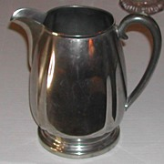 Vintage c.1930s Crescent Pewter Water  Pitcher #1506