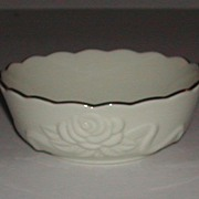 Lenox Rose China Bowl 24K Gold Trim