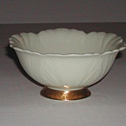 Lenox 24K Footed China Bowl Beautiful