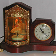 SOLD Vintage c. 1950 Ballerina Light  Motion Musical United Clock