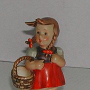 Vintage c. 1950 Hummel Little Shopper  #96 Full Bee Germany
