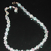 Vintage c. 1960s  Crystal Single Strand Necklace