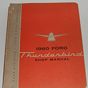 1960 Ford Thunderbird Shop Manual Book