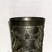 Antique 1904 Worlds Fair St. Louis Exposition Souvenir Metal Drinking Cup