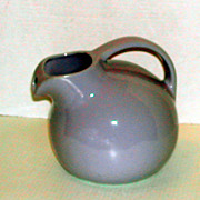Vintage c.1920s  Niloak Blue Milk Water Pottery Ball Pitcher