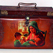 Vintage c. 1920 British Tea Caddy Advertising Tin