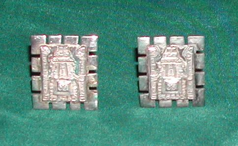 Vintage 925 Sterling Silver Earrings Inca Indian Design Peru