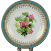Beautiful Circa 1860 Hand Painted Porcelain Plate by Samuel Alcock