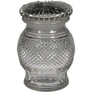 Late Victorian Hand Blown & Cut Crystal Pickle Jar