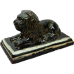 Charming 19th Century Sewer Tile Figure of Recumbent Lion