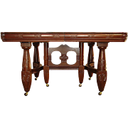 Victorian mahogany banquet table