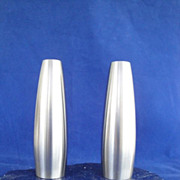 SOLD Dansk Design Jens Quistgaard  Denmark Stainless Steel Salt & Pepper