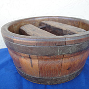 SOLD Antique Circa 1880's Dutch Wooden Cheese Mold with Pressure Lid