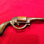 SALE Vintage Folk Art Hand Carved Classic American 6 Shooter Toy Gun
