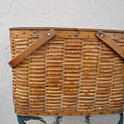Antique Hawkeye Refrigerator Picnic Basket with tin lining - Model A Fit