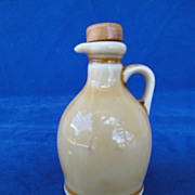 REDUCED Vintage Yellow Miniature Jug with Original Cork Stopper