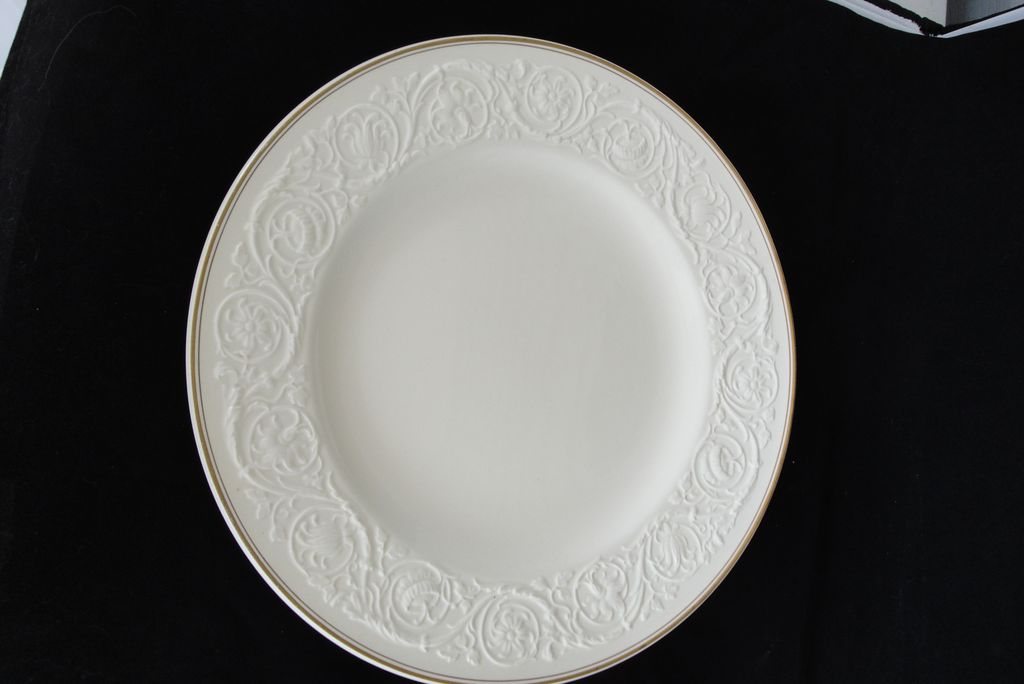 "Vintage Wedgwood of Etruria & Barlaston Patrician 13"" Ivory Charger or Dinner Plate"