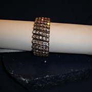 SALE PENDING Expandable Flex Stretch Band Five Strand Crystal Clear Rhinestone Bracelet