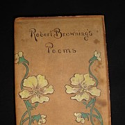"SALE Robert Browning's Poems"" with a Dedication to Tennyson dated 1872"