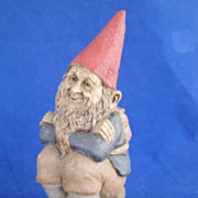 REDUCED Tom Clark Cairn Studio Whimsical Gnome Wood Spirit Retired Justin 1990
