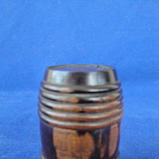 SALE Civil War Era Barrel Shape Traveling or Pocket Inkwell 1850's - 60's