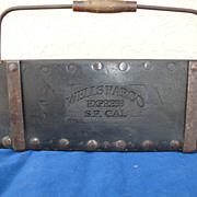SALE Antique Wells Fargo Coin Carrier, San Francisco, 1848 - 1865