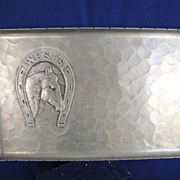 SOLD Vintage Wendell August Forge Presentation Tray West's Horse Shoe