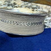 REDUCED Vintage Sterling 925 Wide Cuff Bracelet - 49.9 Grams