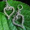 Sterling Wire Heart Earrings