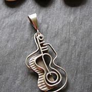 Francisco Rebajes Sterling Silver Guitar Pendant