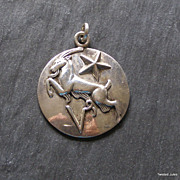 SOLD Margot de Taxco, Zodiac pendant, Capricorn