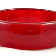 SALE Fabulous Cherry Red Bakelite Bangle Bracelet