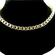 SALE Vintage Nina Ricci Box Chain Necklace